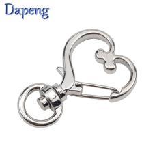 創意款桃心形鑰匙扣 金色小禮品定制 金屬掛件電鍍環保合金小狗扣