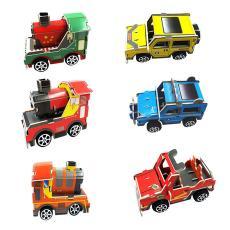 3d立體拼圖兒童益智科教教學玩具廠家批發 DIY組裝車模型