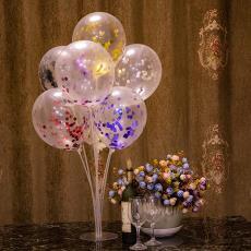 網紅地推乳膠玫瑰金亮片氣球 廠家直銷12寸漂浮五彩鋁箔透明氣球