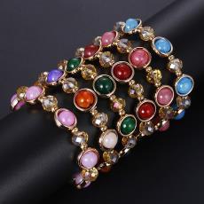 新款韩版爆款天然龙纹玛瑙玉石手链简约时尚百搭水晶手串厂家直销