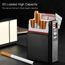 帶打火機點煙器 FOCUS焦點煙盒 可裝20支煙 USB充電煙盒