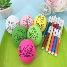 幼兒園兒童雞蛋殼diy手工制作彩繪仿真雞蛋玩具 畫畫彩蛋繪畫鴨蛋