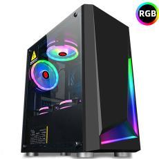 台式机电脑全侧透RGB主机箱下置电源游戏中小主机箱 玩嘉冰刃机箱