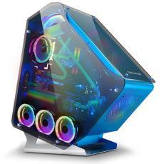玩嘉三角兽网吧机箱 玻璃侧透明水冷游戏大机箱 台式机电脑主机箱
