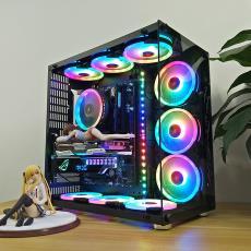 罗宾II号 阿波罗式台式机电脑游戏水冷主机箱 全侧透钢化玻璃机箱