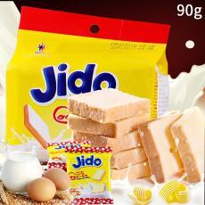 Jido京都雞蛋面包干牛奶味袋裝90g越南進口休閑糕點低脂零食批發