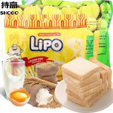 餅干休閑零食品批發 越南進口零食利葡Lipo奶油雞蛋面包干300g