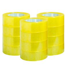 大卷透明米黄警示胶带批发定制打包快递封口胶布整箱封箱快递5.5