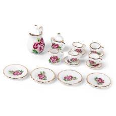 1:12娃娃房迷你陶瓷茶具套裝Dollhous兒童過家家玩具批發袖珍陶瓷
