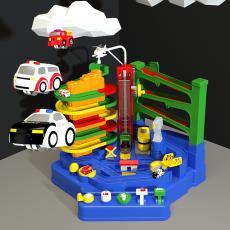 汽车大冒险轨道玩具豪华停车场闯关儿童益智玩具灯光音乐一件代发