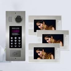 奥硕天7寸楼宇可视对讲设备彩色可视门禁系统智能门铃主机楼宇对