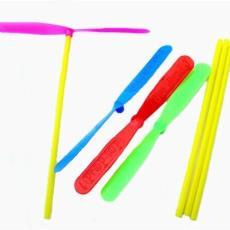 不發光竹蜻蜓手搓雙飛葉塑料飛天仙子飛盤義烏小玩具地攤夜市批發