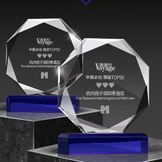 水晶獎杯定制廠家直銷獎牌定做刻字高檔工藝品擺件禮品退伍盾牌獎