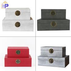 廠家直銷金屬扣首飾盒收納儲物盒樣板房間臥室軟裝飾品新中式擺件