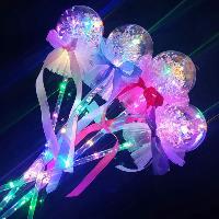 兒童發光玩具地攤引流波波球魔法棒 新款LED閃光波波球閃光棒