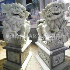 寺庙门口摆放 福建青石石雕狮子 各种动物石雕 汉白玉石狮子