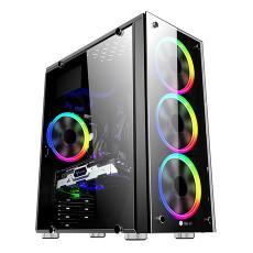 光环机箱 ATX全侧透家用游戏玻璃面板主机箱 台式机电脑水冷机箱