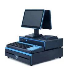 可配購多語言商超收銀管理軟件 商速125雙屏12.5寸零售一體收銀機