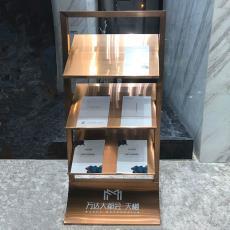 玫瑰金資料架落地展示架資料架文件架書報架報刊架報紙架子雜志架
