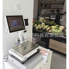 耐克斯收銀秤打印稱重一體機PC收款秤稱重收銀機觸摸屏6kg15kg