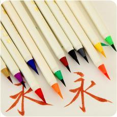 日本文具白金軟頭毛筆創意書法筆軟毛筆簽到筆練字漫畫軟筆蘸水筆