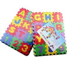 儿童拼图益智玩具义乌玩具出口 批发三层36块eva泡沫字母数字拼图
