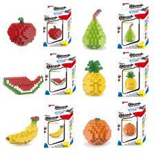 班格星钻小颗粒拼装水果积木 8109香蕉 益智拼插创意迷你玩具