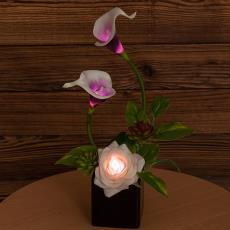 创意仿真小摆件小夜灯批发 花瓶花卉摆件LED小夜灯工艺品台灯