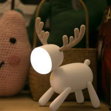 觅鹿LED台灯学生阅读灯书桌宿舍卧室无需插电创意女生护眼写字灯