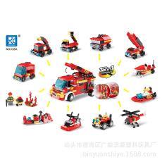 城市消防儿童益智扭蛋积木扭蛋兼容各种*拼装玩具12款合1 品格