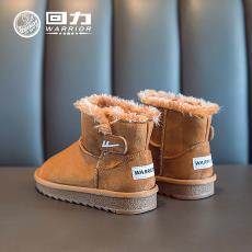 新款纯色百搭耐穿防滑男女学生棉鞋 回力冬季加绒儿童雪地靴代发
