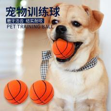 宠物狗狗玩具 厂家直销60mmPU发泡海绵弹力篮球狗玩具