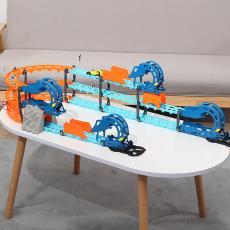 童励百变轨道车拼装电动充电高速轨道益智玩具男女孩儿童diy玩具