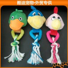 发声宠物批发 亚马逊新款热销 益智磨牙耐咬TPR橡胶玩具 毛绒玩具
