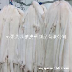 批發裘皮原料現貨 皮草供應 大連白色水貂皮 國產本色公貂皮