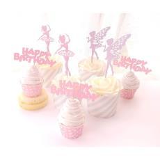 芭蕾女孩蛋糕插牌 蛋糕装饰装扮用品 璀璨 精灵仙子 可爱卡通形象