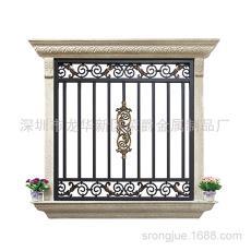 高端庭院鋁合金窗花定制 廠家直銷 烤漆鋁藝窗花防盜窗來圖定制