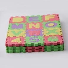 地平面拼圖 兒童益智地墊玩具 6X6拼圖 泡沫字母拼圖 數字拼圖