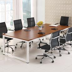 現代簡約多人會議桌職員辦公桌培訓洽談長條桌圖書館閱覽桌定制