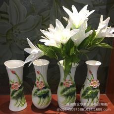 佛教用品观音净水瓶佛前供花瓶陶瓷莲花瓶荷花瓶陶瓷花瓶浮雕花瓶