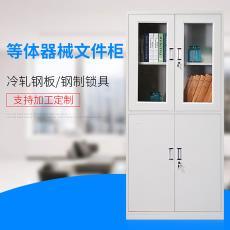珠海中山铁皮文件柜资料柜带锁加厚办公室玻璃柜子档案柜厂家定制