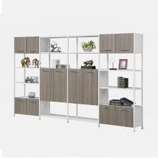 员工储物柜书柜 工厂办公文件柜子木制 板材档案资料柜 柜子定制