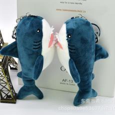新款香造鲨鱼小艾毛绒挂件毛绒玩具钥匙扣精品店娃娃公仔玩偶批发