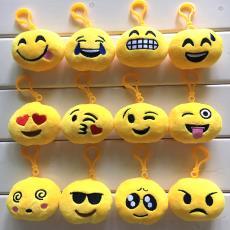 创意礼品2019 emojiQQ表情挂件钥匙扣 精品毛绒qq表情包公仔