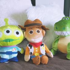 外贸原单玩具总动员毛绒玩具公仔胡迪草莓熊粉红猪玩偶送节日礼物