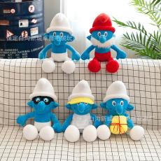 厂家直销爆款蓝精灵毛绒玩具七个小矮人公仔批发礼品定制公司logo