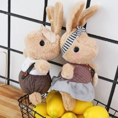 厂家批发英式傲娇兔毛绒玩具乔治公仔玩偶礼物可定制一件代发抱枕